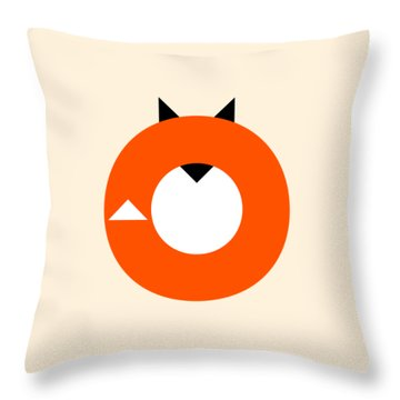 A Most Minimalist Fox Throw Pillow by Nicholas Ely