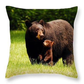 A Mothers Joy Throw Pillow