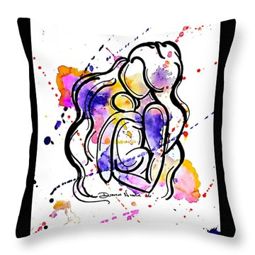 A Mother's Love Throw Pillow by Diamin Nicole