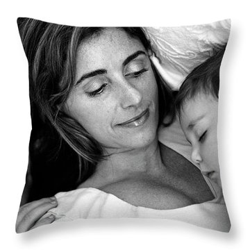 A Mother's Love Throw Pillow by Kathy Yates