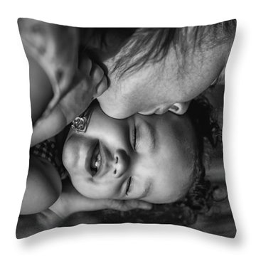 Throw Pillow featuring the photograph A Mothers Love by Ryan Smith