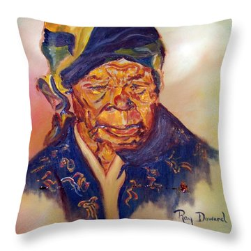 A Mothers Pride Throw Pillow by Raymond Doward