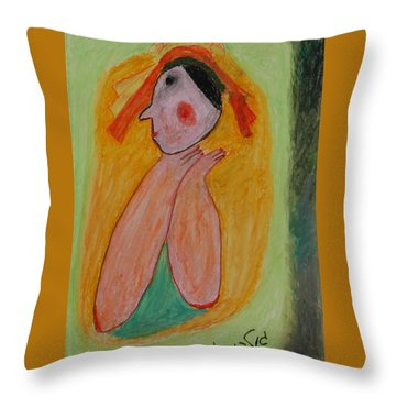 A Mother's View Of Baby Throw Pillow by Harris Gulko