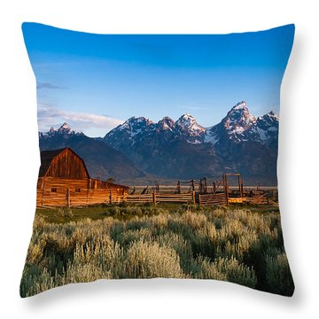 Throw Pillow featuring the photograph A Moulton Barn by Monte Stevens