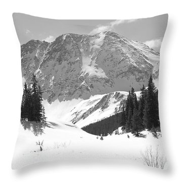 Throw Pillow featuring the photograph A Mountain Is A Buddha by Eric Glaser