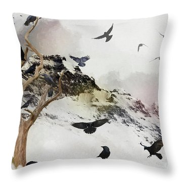 A Murder In The Making Throw Pillow