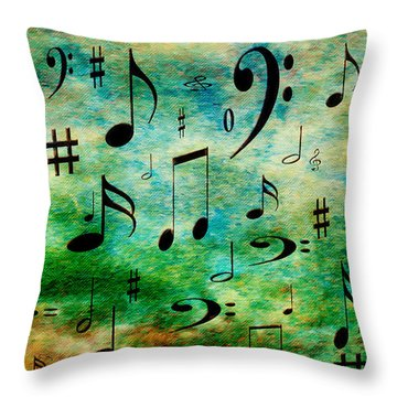 Throw Pillow featuring the digital art A Musical Storm 2 by Andee Design