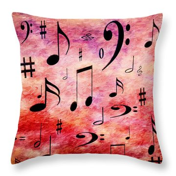 Throw Pillow featuring the digital art A Musical Storm 4 by Andee Design