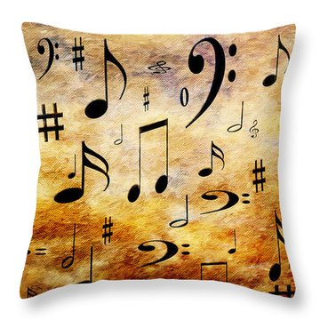 Throw Pillow featuring the digital art A Musical Storm by Andee Design