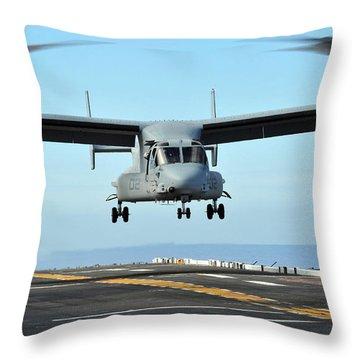 A Mv-22 Osprey Aircraft Prepares Throw Pillow