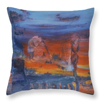 A Mystery Of Gods Throw Pillow by Steve Karol