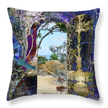 A Narrow But Magical Door Throw Pillow