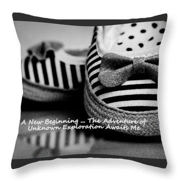 A New Beginning Throw Pillow by Patrice Zinck