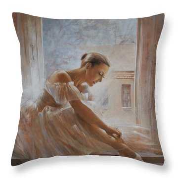 A New Day Ballerina Dance Throw Pillow