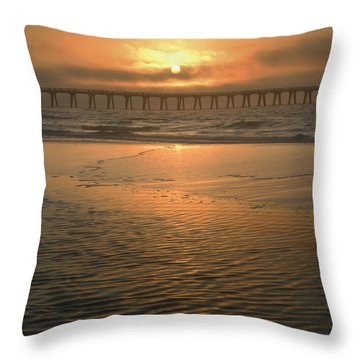 Throw Pillow featuring the photograph A New Day Dawning by Renee Hardison