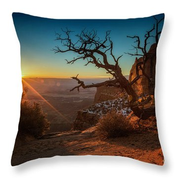 A New Day Dawns Throw Pillow by Kristal Kraft