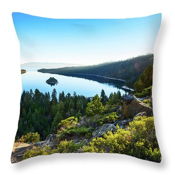 A New Day Over Emerald Bay Throw Pillow
