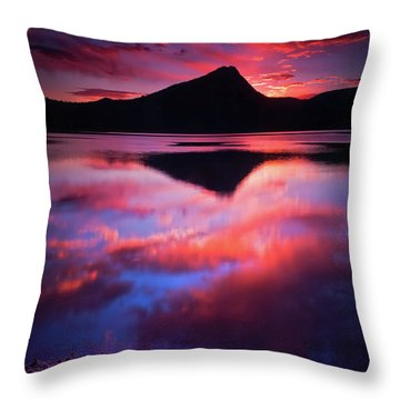 Throw Pillow featuring the photograph A New Start by John De Bord