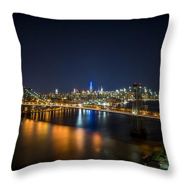 A New York City Night Throw Pillow