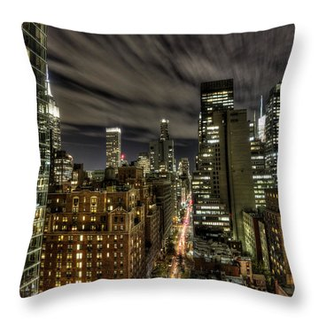 A New York City Night Throw Pillow by Shawn Everhart
