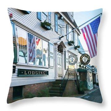 A Newport Wharf Throw Pillow