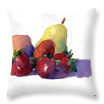 Still Life With Pears Throw Pillow