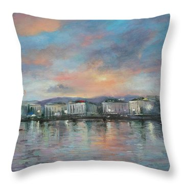 A Night At Geneva Throw Pillow