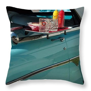 A Night At The Root Beer Stand Throw Pillow