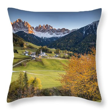 A Night In Dolomites Throw Pillow