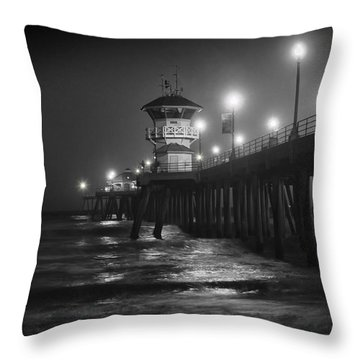 A Night On The Pier Throw Pillow