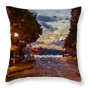 A Night Out On The Town Throw Pillow