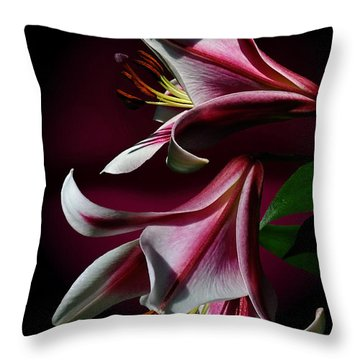 A Pair Of Lilies Throw Pillow