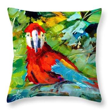 Papagalos Throw Pillow