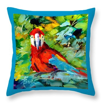 Papagalos Throw Pillow