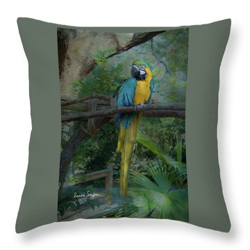 A Parrot's Life Throw Pillow