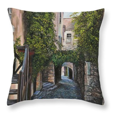 A Passage In Time Throw Pillow by Charlotte Blanchard