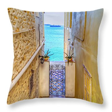 A Passage To The Sea Throw Pillow