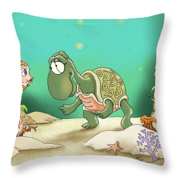 A Passer By Throw Pillow by Hank Nunes