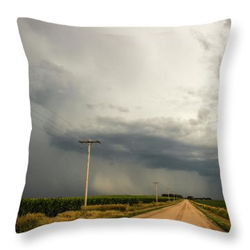 A Passion For Shelf Clouds 001 Throw Pillow