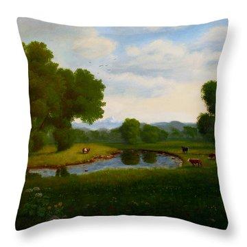 A Pastoral Landscape Throw Pillow