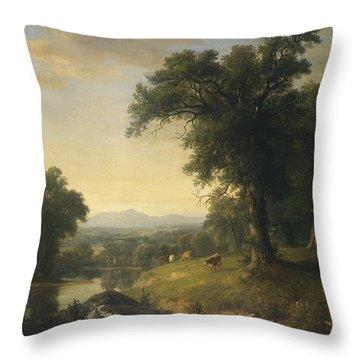 A Pastoral Scene Throw Pillow