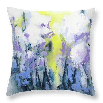 A Patch Of Purple Throw Pillow