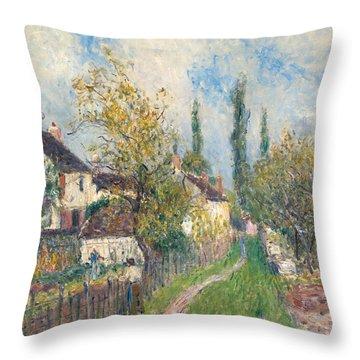 A Path At Les Sablons Throw Pillow