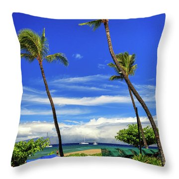 Throw Pillow featuring the photograph A Path In Kaanapali by James Eddy