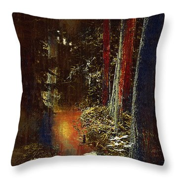 A Path In The Forest Throw Pillow