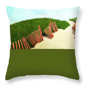 A Path Of Light Smaller View For Prints From Oil Painting Throw Pillow