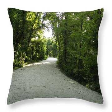 A Path Throw Pillow by Robin Coaker