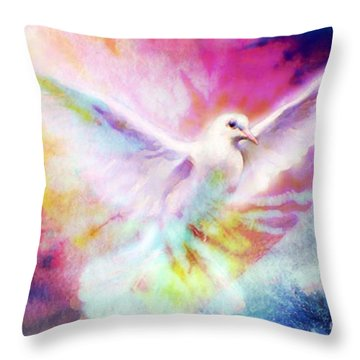 A Peace Dove Throw Pillow