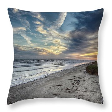 Throw Pillow featuring the photograph A Peaceful Beach Sunset by Charles McKelroy