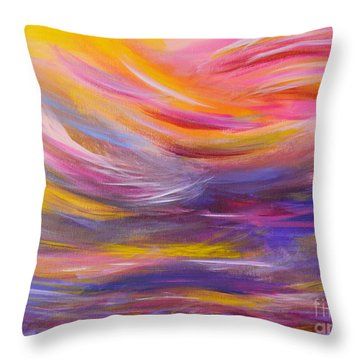 A Peaceful Heart - Abstract Painting Throw Pillow
